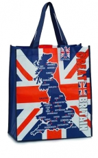 Great Britain Map Souvenir Shopping Bag