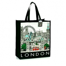 London Cityscape Souvenir Shopping Bag