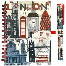 London Big Ben Note Book and Pen Gift Set