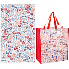 London Souvenir Tea Towel and Shopping Bag