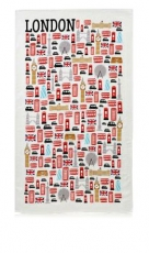 Icons of London Tea Towel