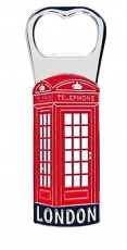 Metal Telephone Box Bottle Opener Magnet
