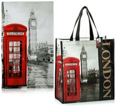 Photographic London Shopping Bag and Tea Towel Set