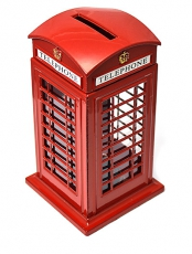 London Souvenir Die Cast Metal Telephone Box Money Box