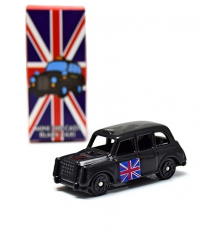 Miniature Black Taxi Model
