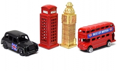 Set of Four Diecast Metal Miniature London Models