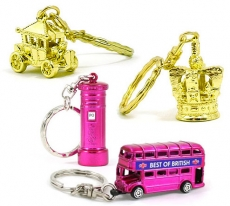 Four London Keyrings Set