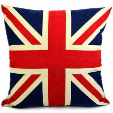 Linen Union Jack Cushion Cover