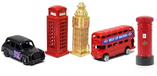 Set of Five Diecast London Souvenir Mini Models
