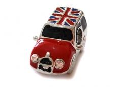 Union Jack Mini Cooper Bead for Charm Bracelet
