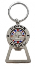 London Collage Bottle Opener Keyring