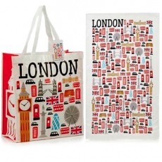 Icons of London Shopping Bag and Tea Towel Set