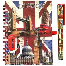 Union Jack Notebook and Pen Set