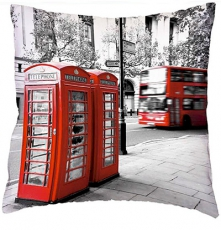 British Telephone Box Cushion Cover