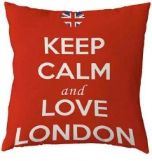 Keep Calm and Love London Cushion Cover