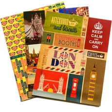 Three Sheets of Stylish London Stickers