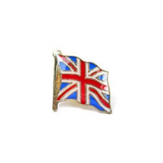 Wavy Union Jack Flag Lapel Pin Badge