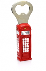 Resin Telephone Box Bottle Opener Magnet