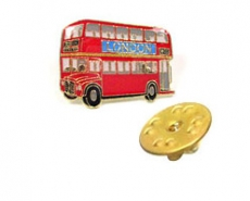 Double Decker Bus Lapel Pin Badge