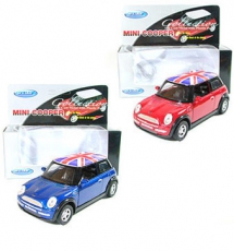 36x Blue & Red Union Jack Mini Cooper Model Car