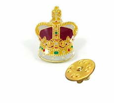 Crown Metal Lapel Pin Badge