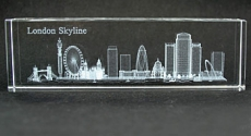 Laser Art Crystal London Skyline Paperweight