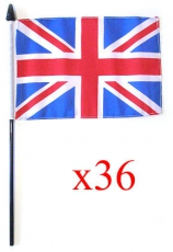 36x Handwaving Union Jack Flags 6 x 9 Bulk Offer