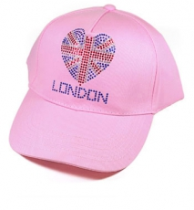 Diamante Pink London Baseball Cap