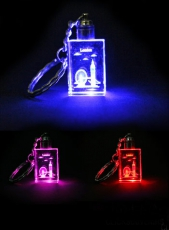 Light Up London Collage Laser Crystal Keyring
