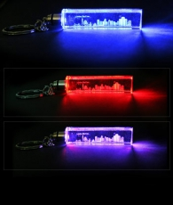 Light Up London Skyline Laser Crystal Keyring