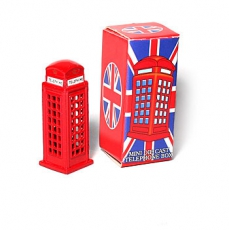 Miniature Phone Box Metal Model