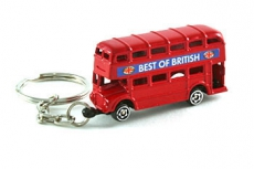 Red Double Decker Bus Keyring Keychain