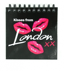 Kisses from London Square Note Pad 9cm