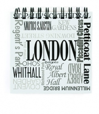 London Place Names 9cm Note Pad