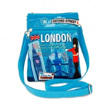 London Souvenir Scrapbook Passport Travel Bag