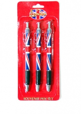 Gift Set of 3 Union Jack Pens