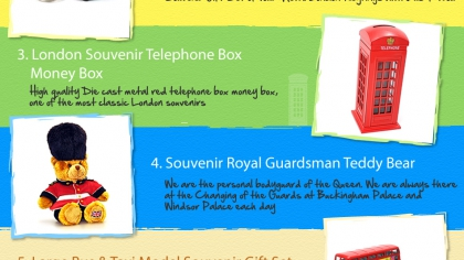 Top 5 London Souvenirs and Gift Ideas Infographic
