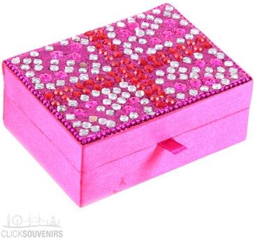 A Pink Union Jack Jewellery Box