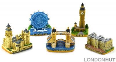 Five London souvenir models