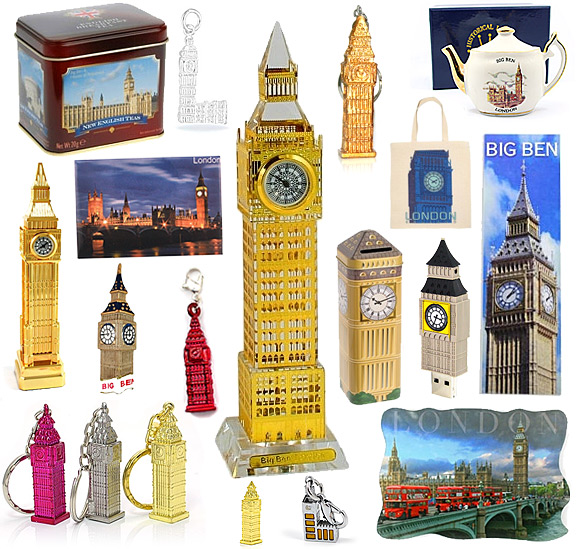 London Big Ben Souvenirs and the Houses of Parliament Gifts