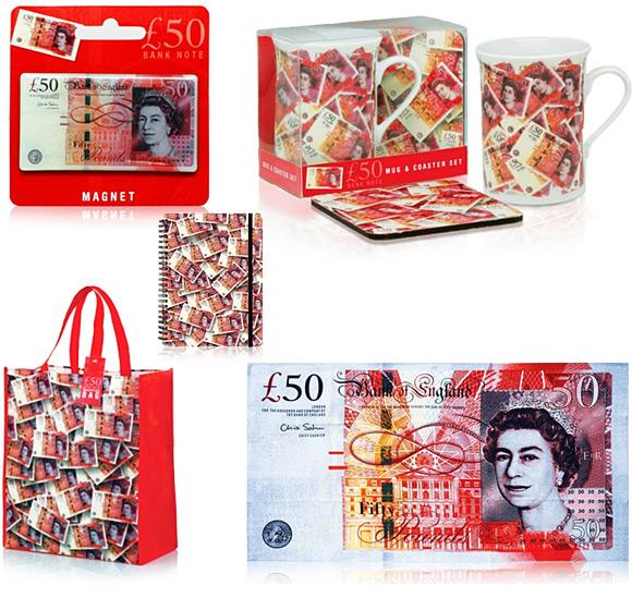 London Fifty Pound £50 Note Souvenirs