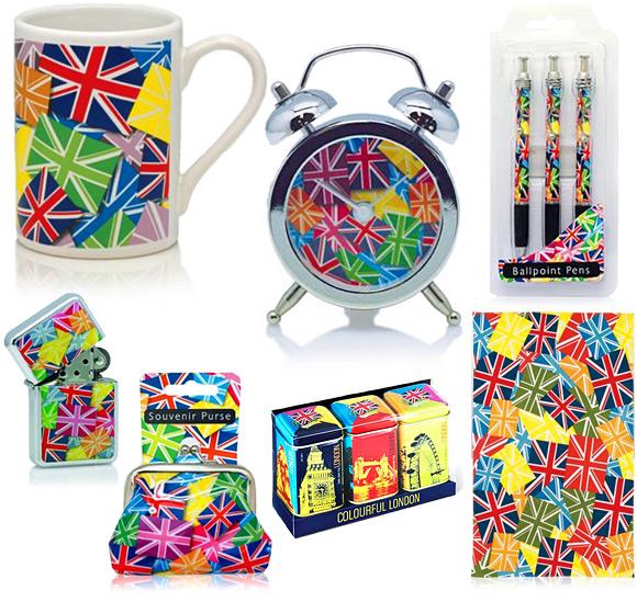 Multicoloured Union Jack Souvenirs