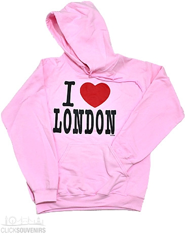 A Pink I Love London Sweatshirt