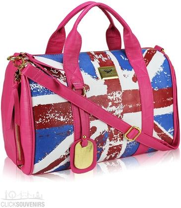 A Pink Union Jack Handbag