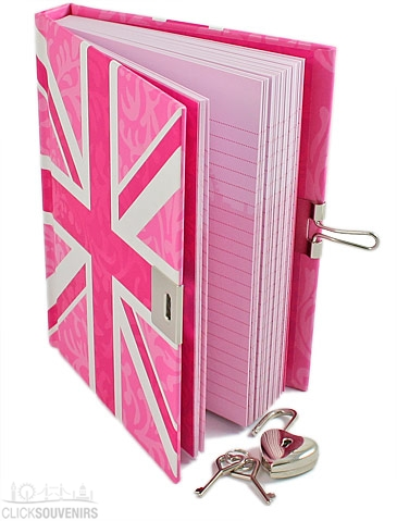 A Pink Union Jack diary