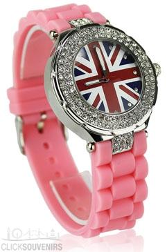 A Pink Union Jack Watch