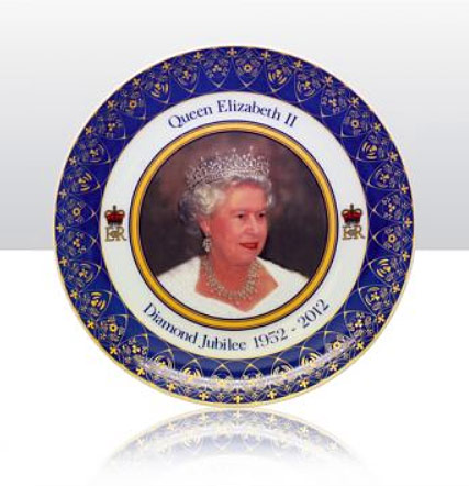 queens diamond jubilee plate