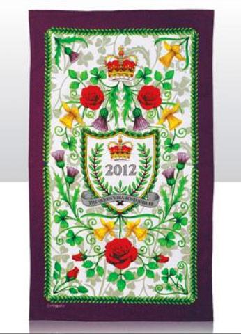 queens diamond jubilee Tea Towel