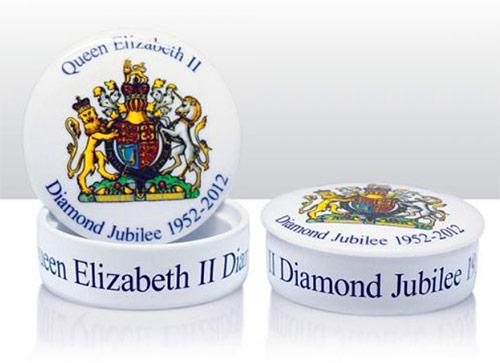 queens diamond jubilee trinket box